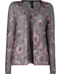 Marc Cain Collections Cardigan mit Karomuster und floralen Details