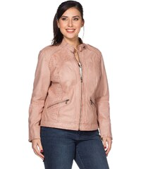 Große Größen: sheego Style Lederjacke, rosé, Gr.40-48
