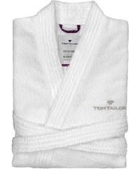 Große Größen: Unisex-Bademantel, Tom Tailor, »Kimono«, mit Logostickerei, weiß, Gr.XXL-M