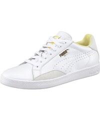 Große Größen: PUMA Match Lo Basic Sport Sneaker, Weiß-Gelb, Gr.38-42