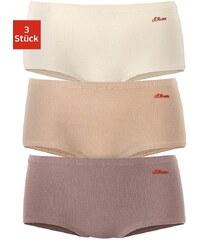 Große Größen: s.Oliver RED LABEL Bodywear Microfaser-Panties (3 Stück), 3x braun-creme, Gr.32/34-36/38