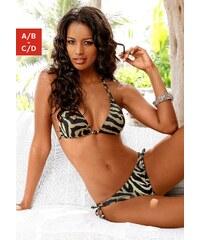 Große Größen: Triangel-Bikini, LASCANA, schwarz-creme, Gr.32-40