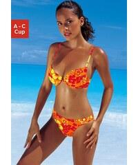 Große Größen: Push-up-Bikini, Venice Beach, orange/gelb/rot, Gr.32-38