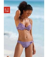 Große Größen: Push-up-Top ´´Scuba´´, s.Oliver RED LABEL Beachwear, lila kariert, Gr.34 (65)-36 (70)
