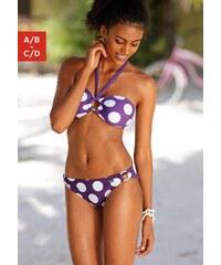 Große Größen: Bandeau-Bikini, Buffalo, lila, Gr.32 (65)-40 (80)