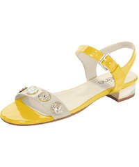 Heine Große Größen: Sandalette, ecru/gelb, Gr.37-42