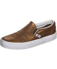 Große Größen: VANS Classic Slip-On Sneaker Damen, gold / weiß, Gr.5.0 US - 36.5 EU-8.5 US - 41.0 EU