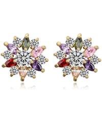Krystalové Náušnice Hvězdy barevné A35472