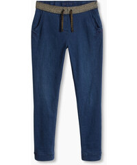 Esprit Teplákové džíny, elastický lesklý pas