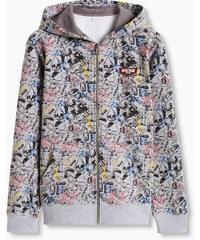 Esprit Sweater à capuche imprimé coton mélangé
