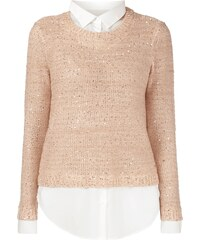 Jake*s Collection Pullover im 2-in-1-Look