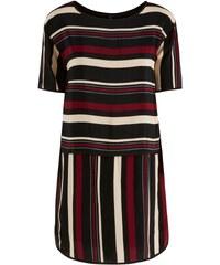 Y.A.S Gestreiftes Kleid mit kurzen Ärmeln