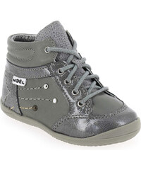 Bottines Enfant fille Noel en Cuir Gris