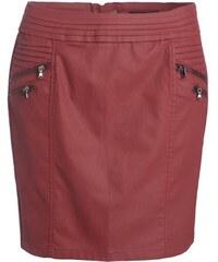 Jupe tissu enduit surcoutures Rouge Elasthanne - Femme Taille 34 - Cache Cache