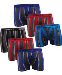Lesara 6er-Set Boxershorts Sports - M