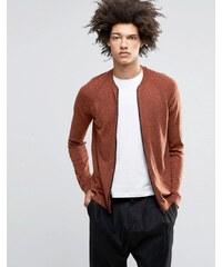 ASOS - Blouson aviateur en maille de laine mérinos mélangée - Orange