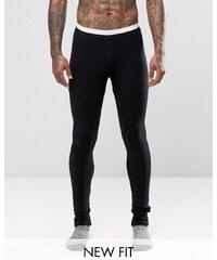 ASOS Loungewear - Meggings avec sangles élastiques à la taille - Noir