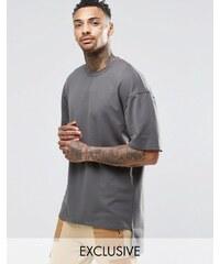 Underated - T-shirt en tissu épais - Gris