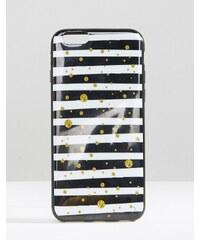 Signature - Gestreifte iPhone 6-Hülle - Weiß