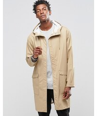 Weekday - Sune - Trench à capuche - Beige - Rouge