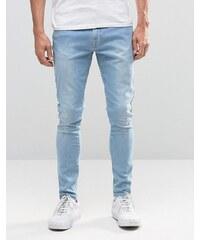 Brooklyn Supply Co - Jean avec poche et bords bruts - Délavage clair Cast - Bleu