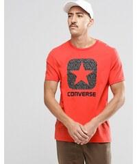 Converse - 10002801-A03 - T-shirt avec logo réfléchissant - Rouge - Rouge