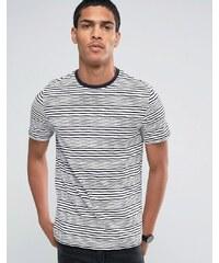 Celio - T-shirt ras de cou à rayures - Bleu marine