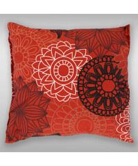 Kvalitex Povlak na polštář hladká bavlna - Kruhy červené