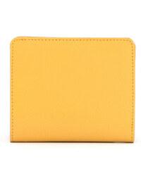 Mini dámská kožená peněženka z pravé kůže Yoshi žlutá