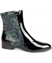 STROLL Černá lakovaná kotníková obuv Stroll WW3202 EUR 35