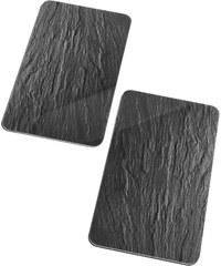 Wenko Plaques de protection Ardoise (Ens. 2 pces.) gris maison - bonprix