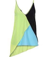 BODYFLIRT Top asymétrique vert sans manches femme - bonprix