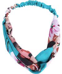 Lesara Haarband mit Blüten-Print - Türkis