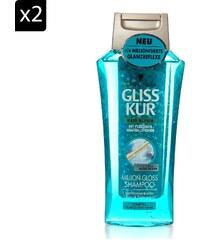 Gliss Lot de 2 shampooings Milllion Gloss Gliss hair repair - 250 ml