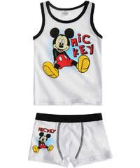 Disney Mickey Unterwäsche-Set 2tlg weiß in Größe 98 für Jungen aus 95% Baumwolle 5% Elastan