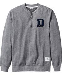 John Baner JEANSWEAR Sweatshirt mit Reißverschluss Regular Fit langarm in grau für Herren von bonprix