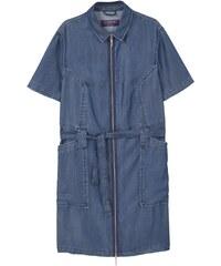 Violeta by Mango Kleid mit Hemdschnitt - blau