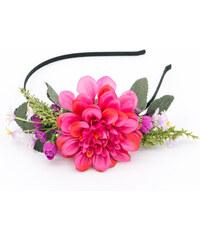 Čelenka do vlasů bohatá květinová chryzantéma