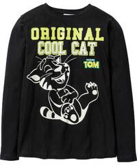Talking Tom and Friends T-shirt à manches longues TALKING TOM phosphorescent noir enfant - bonprix