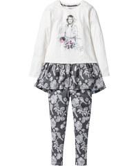 Disney T-shirt long + legging VIOLETTA (Ens. 2 pces.) blanc manches longues enfant - bonprix