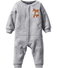 bpc bonprix collection Combinaison sweat-shirt bébé en coton bio gris manches longues enfant - bonprix