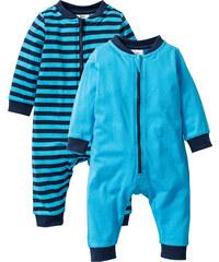 bpc bonprix collection Lot de 2 grenouillères bébé en coton bio bleu enfant - bonprix