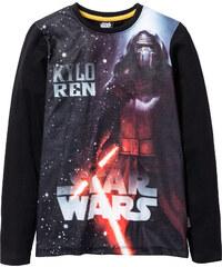 T-shirt à manches longues STAR WARS noir enfant - bonprix