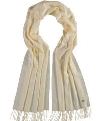 FRAAS Klassischer Cashmink-Schal mit gestickter Distel in weiss