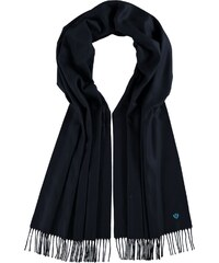 FRAAS Klassischer Cashmink-Schal mit gestickter Distel in navyblau