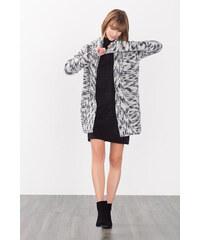Esprit Kabátek z hrubé pleteniny ze směsi vlny