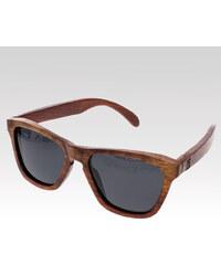 VeyRey dřevěné sluneční polarizační brýle Bark černá skla