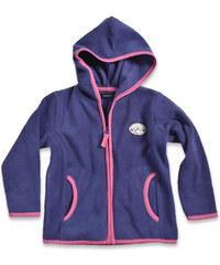 Blue Seven Dívčí fleecová mikina s kapucí - fialová