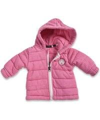Blue Seven Dívčí hřejivý pruhovaný kabátek - růžový