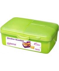 Sistema Box na oběd s lahvičkou, 1,5 l - zelený